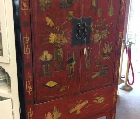 Red Asian armoire